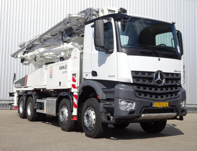 Mercedes-Benz Arocs 3243 8x4 - 45mtr CIFA Betonpomp, Concreet, Betonpumpe - Euro 6 - Like new!! TT 3257