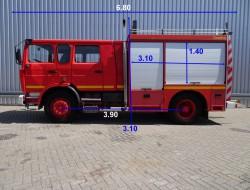 Renault M210 Camiva feuerwehr fire brigade - brandweer - Rescue-Vehicle - 3.400 ltr. water tank- pomp TT 3328