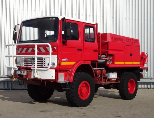 Renault 85.150 Camiva 4x4 Camiva CCF 2000 pomp - feuerwehr - fire brigade - brandweer - water tank TT 3303