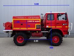 Renault M150 4x4 feuerwehr - fire brigade - brandweer - 2.000 ltr. water tank- pomp TT 3313