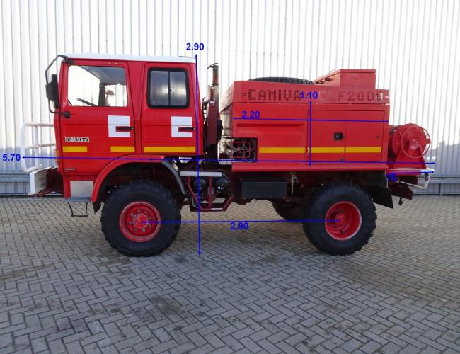 Renault 85.150 TI 4x4 feuerwehr - fire brigade - brandweer - water tank CAMIVA CCF 2000 TT 3315