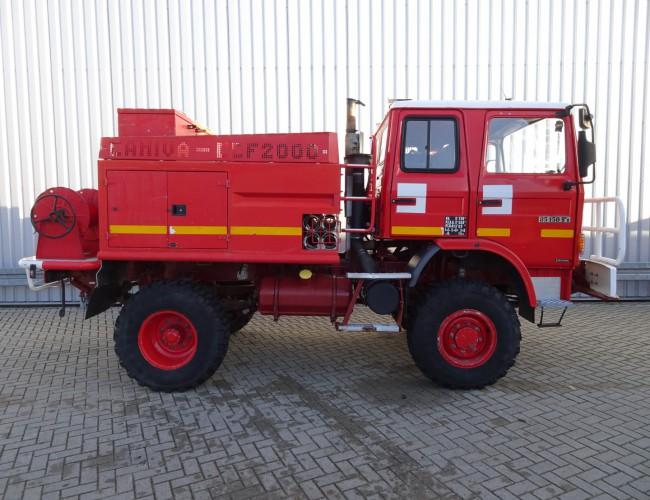 Renault 85.150 TI 4x4 feuerwehr - fire brigade - brandweer - CAMIVA CCF 2000 - Expeditievoertuig TT 3315