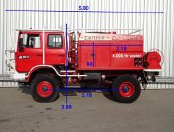 Renault M180 4x4 feuerwehr - fire brigade - brandweer - 4.000 ltr. water tank - Expeditievoertuig TT 3327