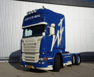 Scania R520 H 6x2 E6 V8 Showtruck, Very good condition! getuned 580PK, Gestuurde en hefbare voorloopas. TT 3338