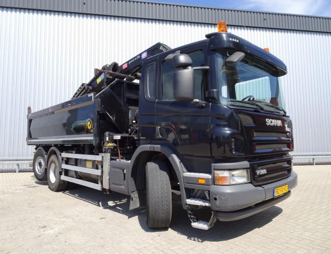 Scania P360 6x2, Lift- Stuuras, Lift- Lenkasche, Lift- Steeraxle, HMF 24 TM kraan, Kran, crane TT 3605