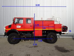 Mercedes-Benz Unimog 2150 L380 Mercedes Benz, Doppelkabine, SIDES CCF4000 ltr. feuerwehr - fire brigade - brandweer, Pomp TT 3721