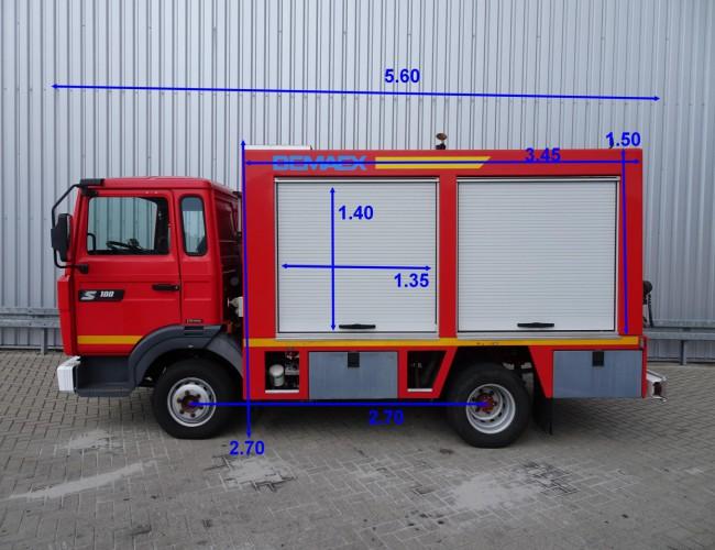 Renault S 180 Midliner Calamiteiten truck, Electricity generator, 20 KVA Elektrizitat Generator, Elektriciteit generator, water tank, high pressure pomp. Incl. Kniptangen, N TT 3654