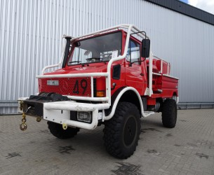 Unimog MB U1550 L37 (2150) Fire Truck - Lier, Winch, Winde - 2.500 ltr Watertank - Pomp - Dingo Achsen! TT 3680