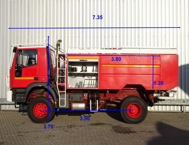 Iveco Eurotrakker 190E30 4X4 8.000 Ltr. Rosenbauer, 160 ltr. schuim, feuerwehr - fire brigade - brandweer, Pomp. TT 3699