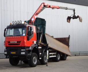 Iveco AD 410T45 Trakker 8x8 E5, Kipper - HMF 16 TM Z  Kraan, Crane, Kran TT 3713