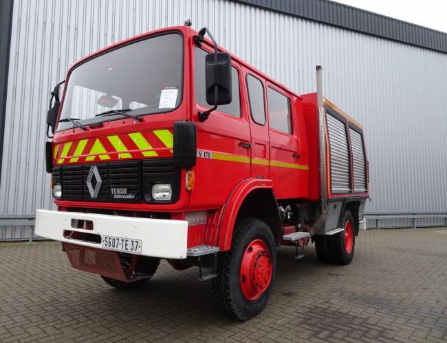 Renault S170 4x4 fire brigade - brandweer - feuerwehr - watertank 2.500 ltr. - pomp! TT 3831