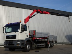 MAN TGM 26.340 6x2 - HMF 14TM Kraan, Crane, Kran - Lift-stuuras, Lift-Steeringaxle, Lift-Lenkachse TT 3838