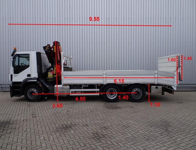 Iveco Stralis 260 S31 6x2 Palfinger 23 TM Kraan - lift- stuuras, Steeraxle, Lenkachse -  Oprijwagen, Ladewagen - 5.2T. Lier, Winch, Winde! TT 3852