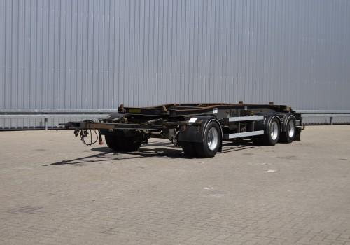 Schmitz ACF 24 3 Assige Containeraanhanger met slee TT 3919