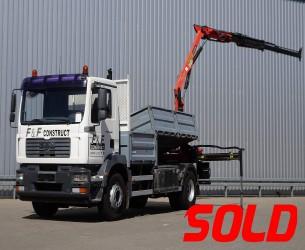 MAN 18.240 Palfinger 7 TM Kraan, Crane, Kran  - Kipper TT 3921