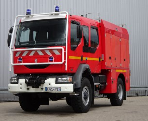 Renault Midlum 220 DCI 4x4-  Brandweer, Feuerwehr, Fire - Doppelcabine - 3.000 ltr water - 200 ltr Foam TT 3959