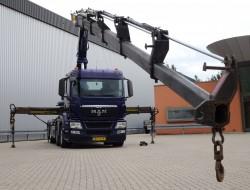 MAN TGS 35.400 8x2 - Haakarm, Hooklift, Abrolkipper - 36 TM Kraan, Crane, Kran TT 4011