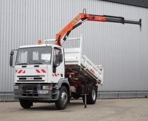 Iveco Eurocargo Tector 180E28 Kipper, Tipper - Palfinger 10TM Kraan, Crane, Kran TT 4032