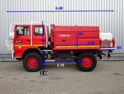 Renault M180 4x4 feuerwehr - fire brigade - brandweer - water tank - Camiva CCF4000 TT 4048