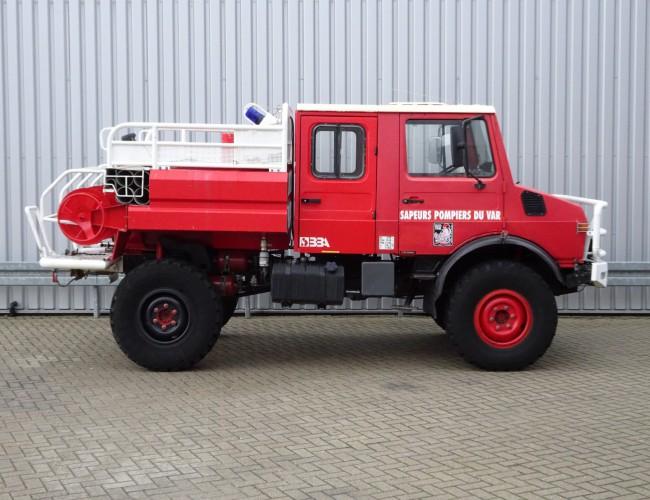 Mercedes-Benz Unimog U 1550 L 4x4 Unimog U1550 L (437) Mercedes Benz, Doppelkabine, SIDES CCF2000 ltr. - Expeditievoertuig, Camper TT 4057