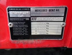 Mercedes-Benz 1824 4x4 feuerwehr - fire brigade - brandweer - 3500 ltr. water tank- pomp - Lier, Wich TT 4069