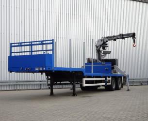 Floor FLO-12-18-19.5 BPW 2 assige Semi Dieplader - Kennis 14000-R Kraan, Crane, Kran TT 4109