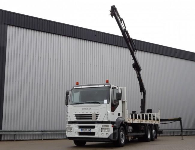 Iveco Stralis 260 S 400 6x2, HIAB 14TM Kraan, Crane, Kran - Retarder - Manuel! TT 4118
