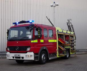 Mercedes-Benz Atego 1325 RHD - Crewcab, Doppelcabine - 1.400 ltr watertank - Feuerwehr TT 4122