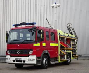 Mercedes-Benz Atego 1324 RHD - Crewcab, Doppelcabine - 1.400 ltr watertank - Feuerwehr, Fire brigade, More in Stock!! TT 4125