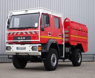 MAN LE 18.220 4x4 - GIMAEX - Rosenbauer - feuerwehr - fire brigade - brandweer - 4000 ltr. water tank- pomp TT 4139