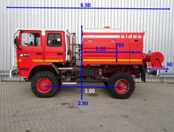 Renault M180 Midliner 4x4 Doppelcabine - 4.400 ltr watertank - Feuerwehr, Fire brigade, Expeditie, Camper TT 4150