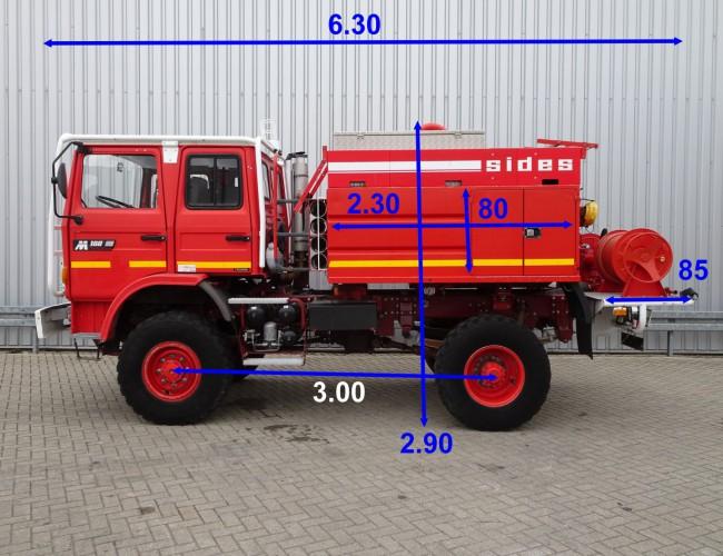Renault M180 Midliner 4x4 Feuerwehr, Fire brigade -4.400 ltr watertank -Doppelcabine , Expeditie, Camper TT 4151