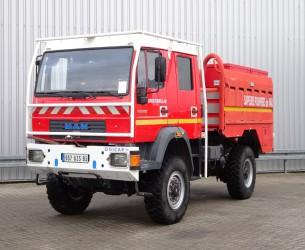 MAN LE 18.220 4x4 Doppelcabine, Crewcab - 4.000 ltr watertank - 200 ltr Foam - Feuerwehr, Fire brigade TT 4159