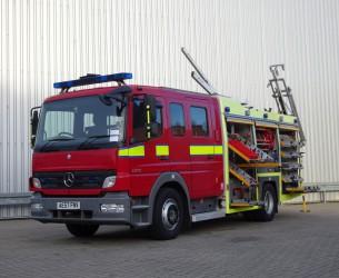 Mercedes-Benz Atego 1325 RHD - Crewcab, Doppelcabine - 1.400 ltr watertank - Feuerwehr, Fire brigade, More in Stock!! TT 4165