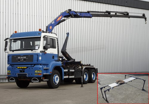 MAN TGA 33.390 6x4 12TM Kraan, Crane, Kran - Haakarm, Hooklift, Abrolkipper - Manuel TT 4183