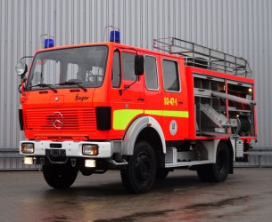 Mercedes-Benz SK 1019 4x4 - V6 - feuerwehr - fire brigade - brandweer - water tank 800ltr. TT 4186