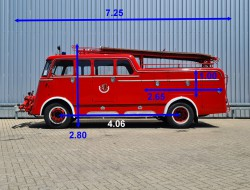 DAF A1100 Oldtimer, Museum - Brandweer, fire, feuerwehr - Voorbouwpomp TT 4232