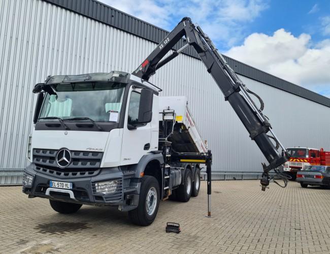 Mercedes-Benz Arocs 2640 6x4 - Hiab 12TM Kraan, Crane, Kran, Grue - Kipper, Tipper, Benne TT 4275