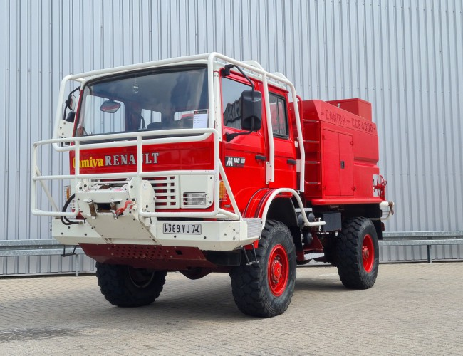 Renault Midliner M180 4x4 -Feuerwehr, Fire brigade -3.500 ltr watertank - Expeditie, Camper - 5,4 t. Lier, Winch TT 4278