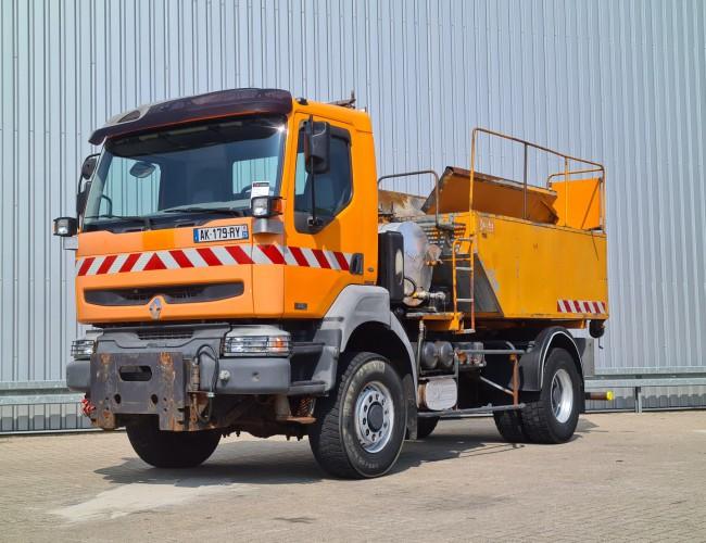 Renault Kerax 320 DCI 4x4 - Asphalt streuer, kocher, bitume, kipper, asphalt TT 4282