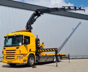 Scania P 340 LB 6x2 - Effer 37TM Kraan, Crane, Kran - Stuuras, Steeringaxle, Lenkasche TT 4291