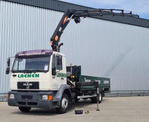 MAN 14.224 12TM Kraan, Crane, Kran bj. 2006!! - Remote control - Lier, Winch, Winde TT 4304
