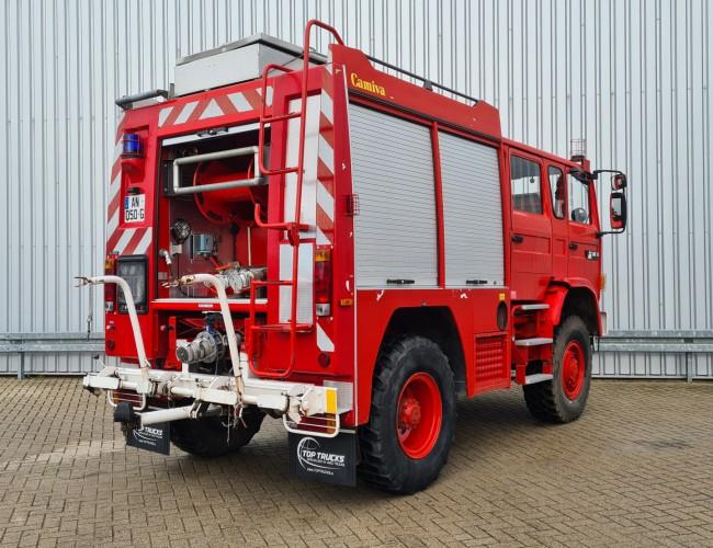 Renault M180 Midliner 4x4 -Feuerwehr, Fire brigade - 1.200 ltr watertank - Expeditie, Camper TT 4321