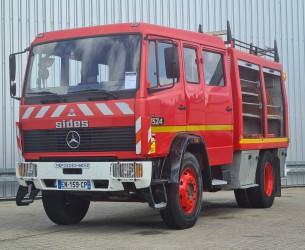Mercedes-Benz 1524 Brandweer, Feuerwehr, Fire brigade - Dubble cabin, mannschaftskabine - 3.000 ltr water tank- pomp TT 4327